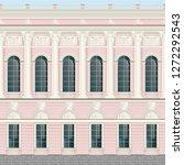 light pink cream facade classic ... | Shutterstock .eps vector #1272292543