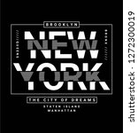 new york theme vectors for t... | Shutterstock .eps vector #1272300019