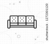 sofa icon  vector best flat...   Shutterstock .eps vector #1272301120