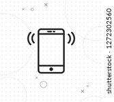 smartphone calling vector best...   Shutterstock .eps vector #1272302560