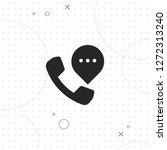 telephone icon  vector best...   Shutterstock .eps vector #1272313240