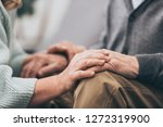 cropped view of retired couple... | Shutterstock . vector #1272319900