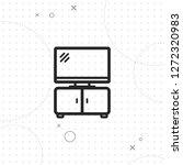 tv table icon  vector best flat ...   Shutterstock .eps vector #1272320983