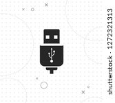 usb cable icon   vector best on ...   Shutterstock .eps vector #1272321313
