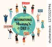international womens day.... | Shutterstock .eps vector #1272322996