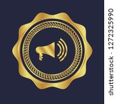 gold button with megaphone icon.... | Shutterstock .eps vector #1272325990