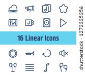 music icon set and note lines...