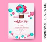 valentine's day love romance...   Shutterstock .eps vector #1272342133
