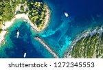 aerial drone bird's eye view...   Shutterstock . vector #1272345553