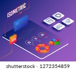 isometric vector. set of search ...
