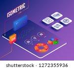 isometric vector. set of edit...