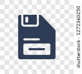 floppy disk upside down icon.... | Shutterstock .eps vector #1272360250