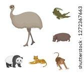different animals cartoon icons ... | Shutterstock . vector #1272367663