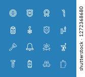editable 16 metallic icons for...   Shutterstock .eps vector #1272368680