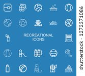 editable 22 recreational icons... | Shutterstock .eps vector #1272371086