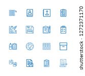 editable 16 clipboard icons for ... | Shutterstock .eps vector #1272371170