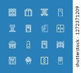 editable 16 doorway icons for... | Shutterstock .eps vector #1272371209
