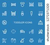 editable 22 toddler icons for...   Shutterstock .eps vector #1272371320