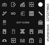editable 22 exit icons for web... | Shutterstock .eps vector #1272374863