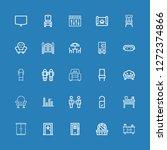 editable 25 living icons for... | Shutterstock .eps vector #1272374866