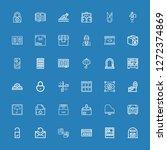 editable 36 open icons for web... | Shutterstock .eps vector #1272374869