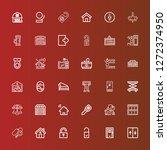 editable 36 door icons for web... | Shutterstock .eps vector #1272374950