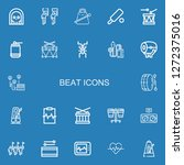 editable 22 beat icons for web... | Shutterstock .eps vector #1272375016