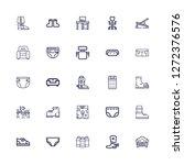 editable 25 comfortable icons... | Shutterstock .eps vector #1272376576