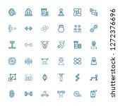 editable 36 strength icons for... | Shutterstock .eps vector #1272376696