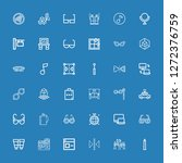 editable 36 reflection icons... | Shutterstock .eps vector #1272376759