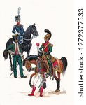French majors illustration. Napoleonic wars illustration.