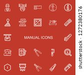 editable 22 manual icons for... | Shutterstock .eps vector #1272380176