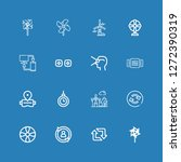 editable 16 rotation icons for... | Shutterstock .eps vector #1272390319
