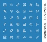 editable 36 strength icons for... | Shutterstock .eps vector #1272390346