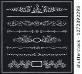 set of decorative calligraphic...   Shutterstock .eps vector #1272392293