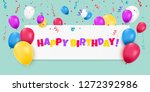 happy birthday banner with... | Shutterstock .eps vector #1272392986