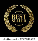 best seller gold sign with...   Shutterstock .eps vector #1272404569