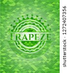 trapeze realistic green mosaic... | Shutterstock .eps vector #1272407356