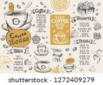 coffee house menu. restaurant... | Shutterstock .eps vector #1272409279
