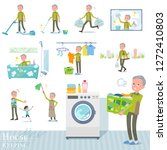 a set of old man related to... | Shutterstock .eps vector #1272410803