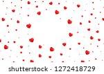 valentine hearts background.... | Shutterstock .eps vector #1272418729