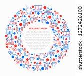 rehabilitation for disabled...   Shutterstock .eps vector #1272426100