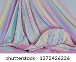 Vector Background. Silk Drapery ...