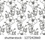 floral seamless vintage pattern.... | Shutterstock .eps vector #127242860