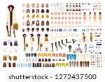 stylish young girl creation set ... | Shutterstock .eps vector #1272437500