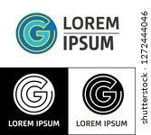 icon  logo  conceptual letter g.... | Shutterstock .eps vector #1272444046