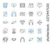marriage icons set. collection... | Shutterstock .eps vector #1272447133