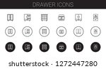 drawer icons set. collection of ... | Shutterstock .eps vector #1272447280