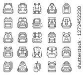 backpack icon set. outline set... | Shutterstock .eps vector #1272452230