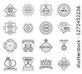 jewellery icon set. outline set ...   Shutterstock .eps vector #1272452236